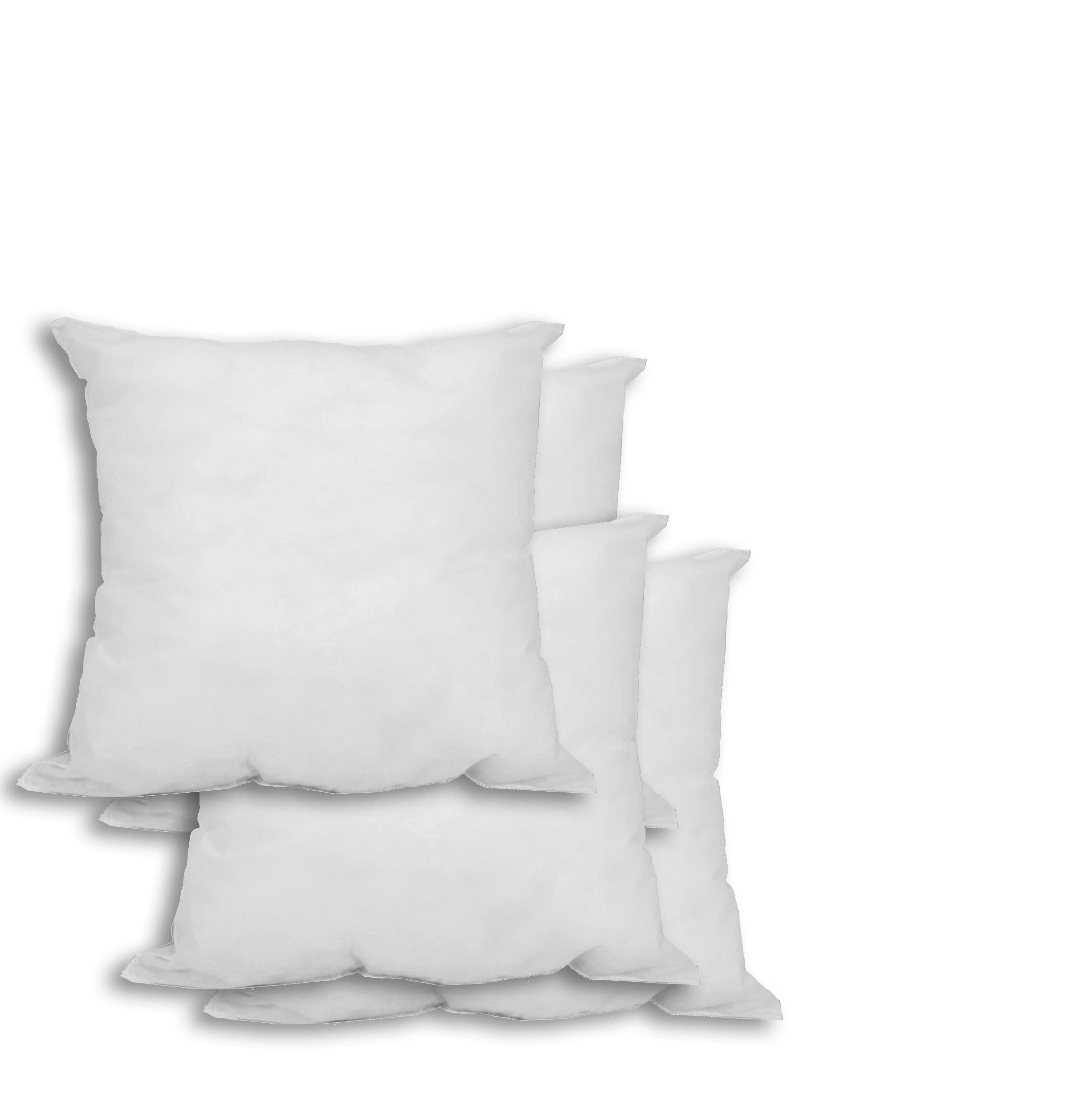 set of 4 12 x 12 premium hypoallergenic stuffer pillow insert square white
