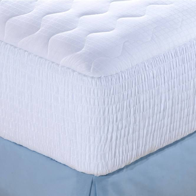 Beautyrest Luxury Cotton Dobby Check Mattress Pad In Multiple Sizes