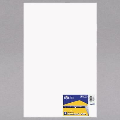 5pc royal brites 24324 14 x 22 white poster board 8 pack