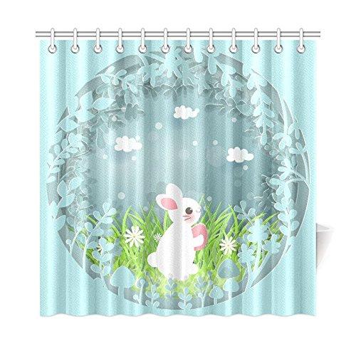 mkhert easter bunny shower curtain home decor bathroom shower curtain 66x72 inch