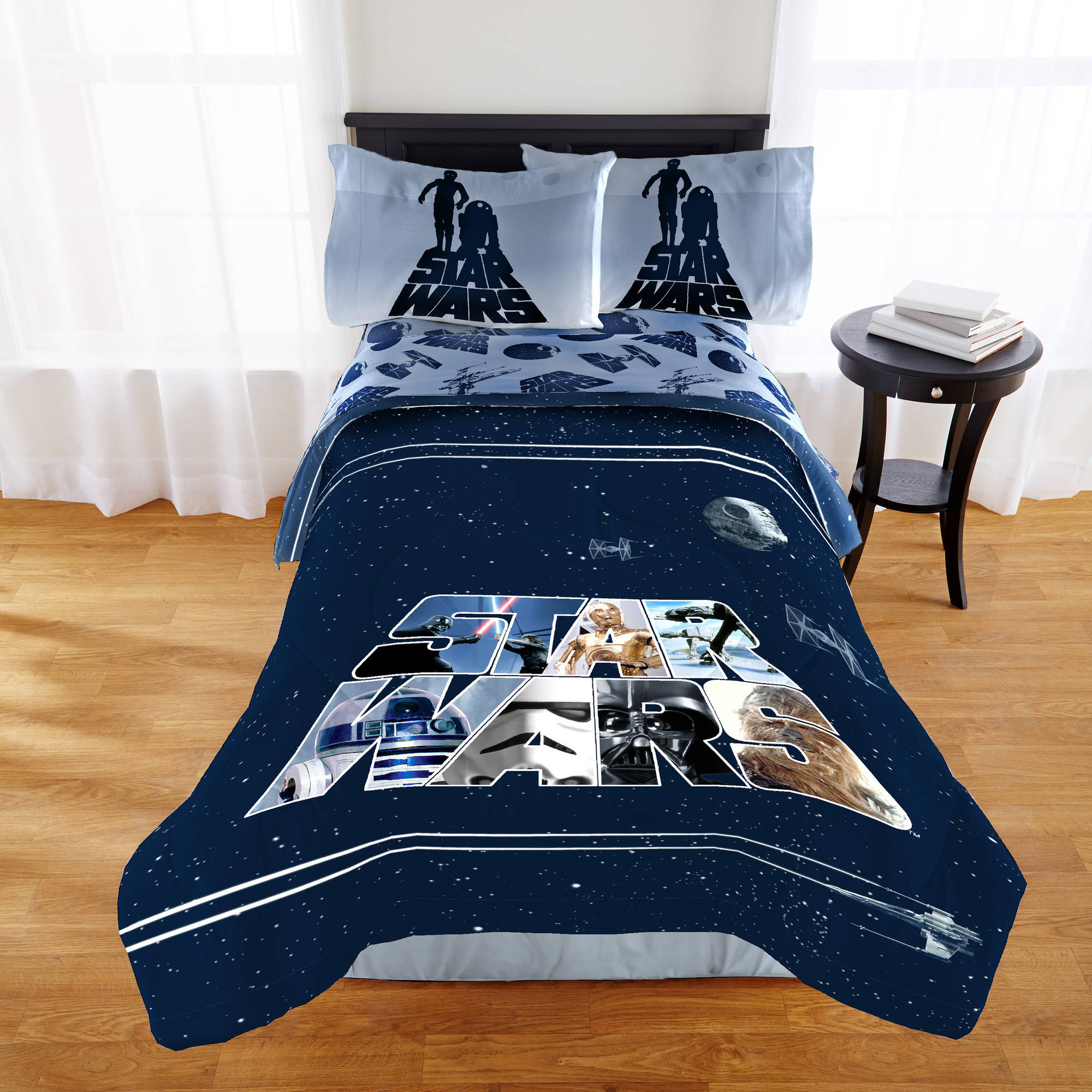 Star Wars Classic Quot Space Logo Quot Twin Full Bedding Comforter