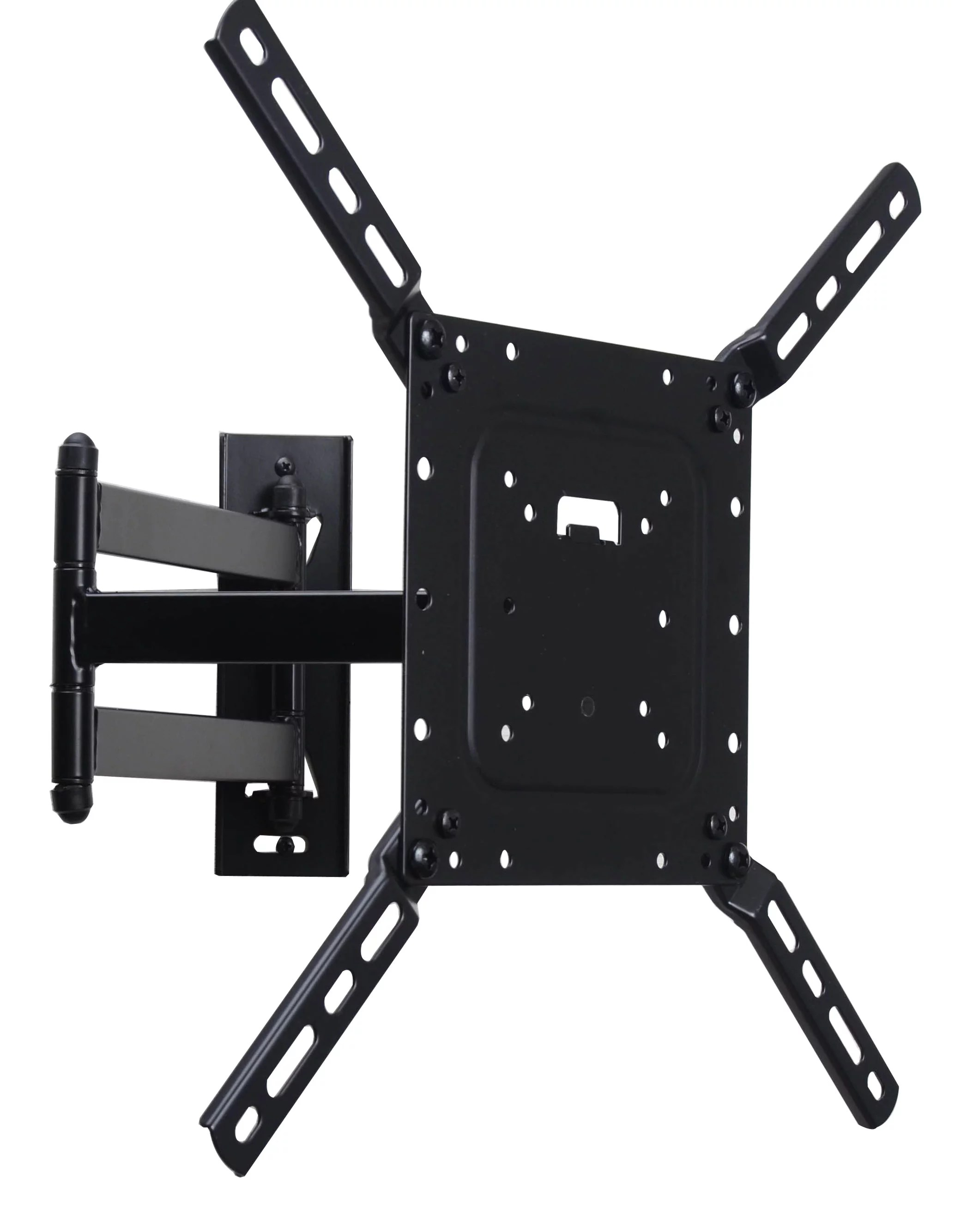videosecu full motion tv wall mount for most 26 55 lcd led plasma flat panel screen display articulating bracket cb6 walmart com