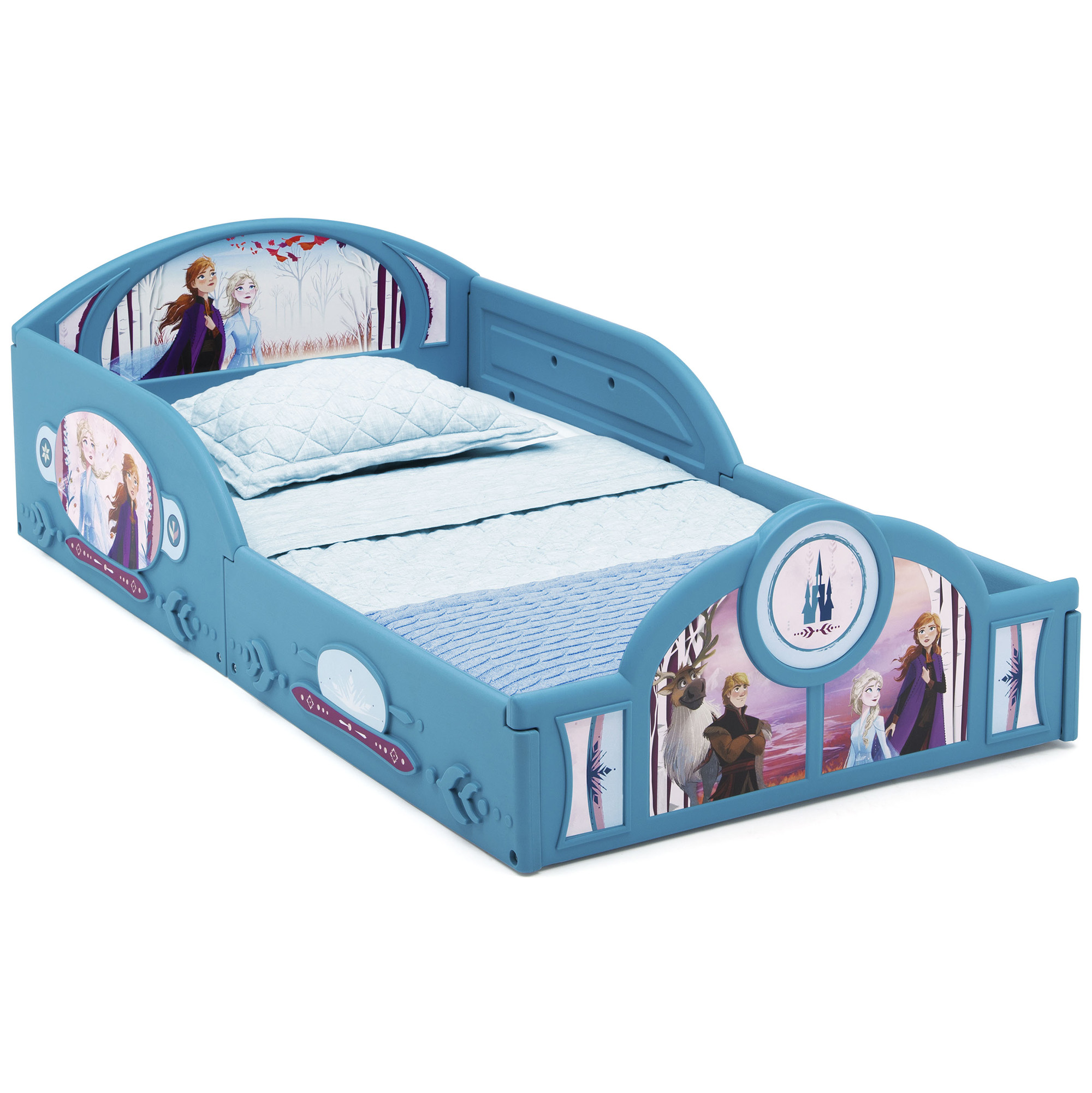 Disney Frozen Ii Plastic Sleep And Play Toddler Bed By Delta Children Walmart Com Walmart Com