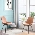 Ovios Dining Chairs Velvet Accent Chair Set Of 2 Swivel Kitchen Chairs With Sturdy Metal Legs Coral Orange Walmart Com Walmart Com