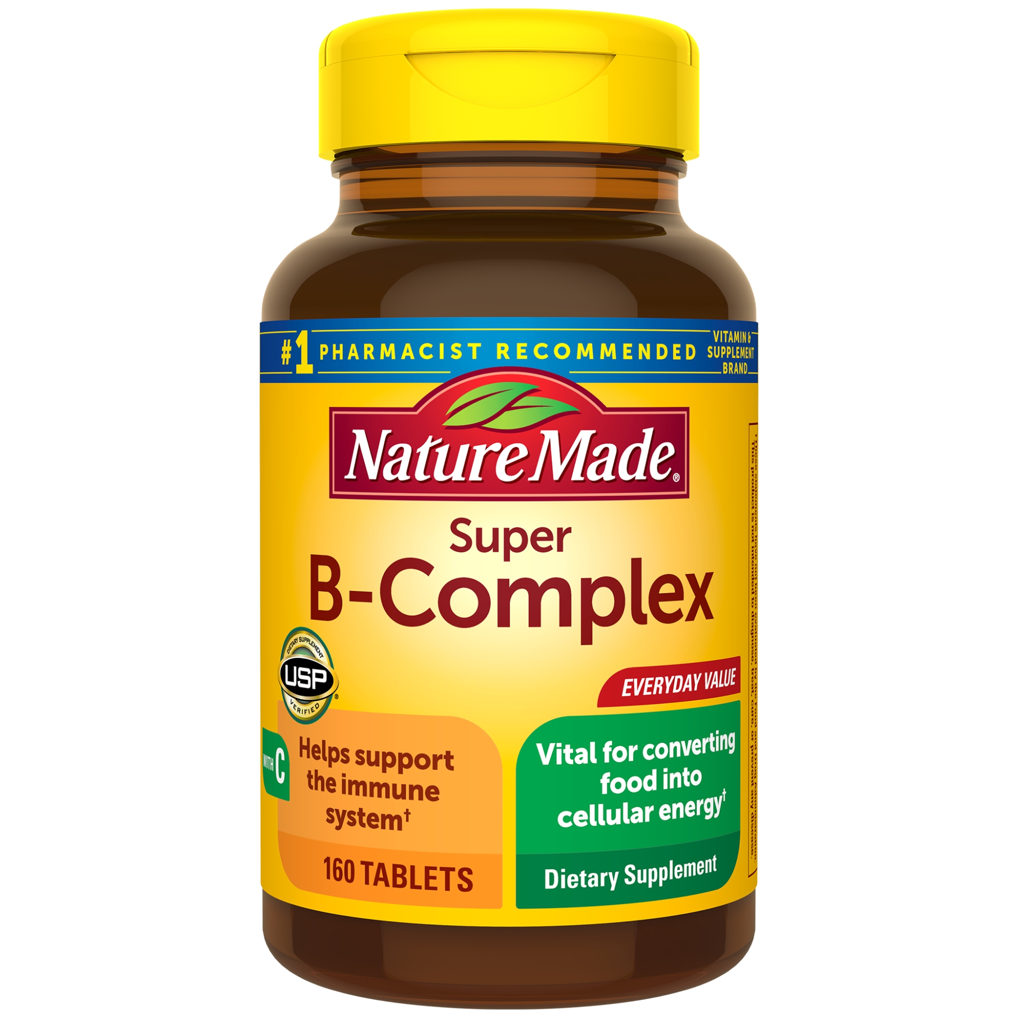 Nature Made Super B-Complex Tablets, 160 Count for Metabolic Health?