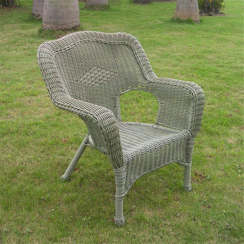international caravan camelback resin wicker patio chair