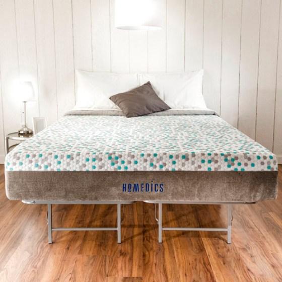 Homedics Re 11 Gel Memory Foam Mattress And Bed Frame Set Multiple Sizes