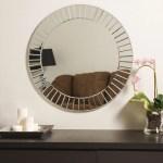 Large 27 6 Round Beveled Glow Glam Modern Decorative Mirror By Decor Wonderland Walmart Com Walmart Com