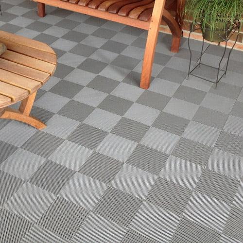 blocktile deck and patio flooring interlocking perforated tiles set of 30