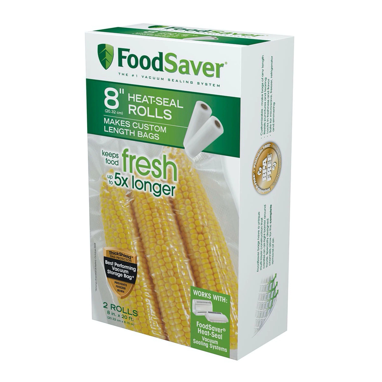 foodsaver 8 x 20 vacuum seal rolls 2 pack