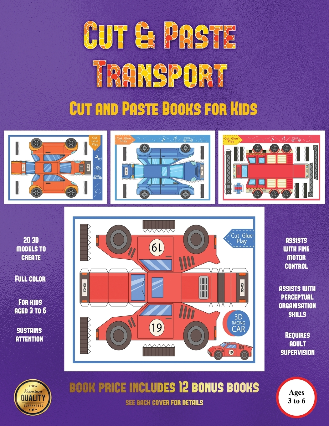 Cut And Paste Books For Kids Cut And Paste Transport