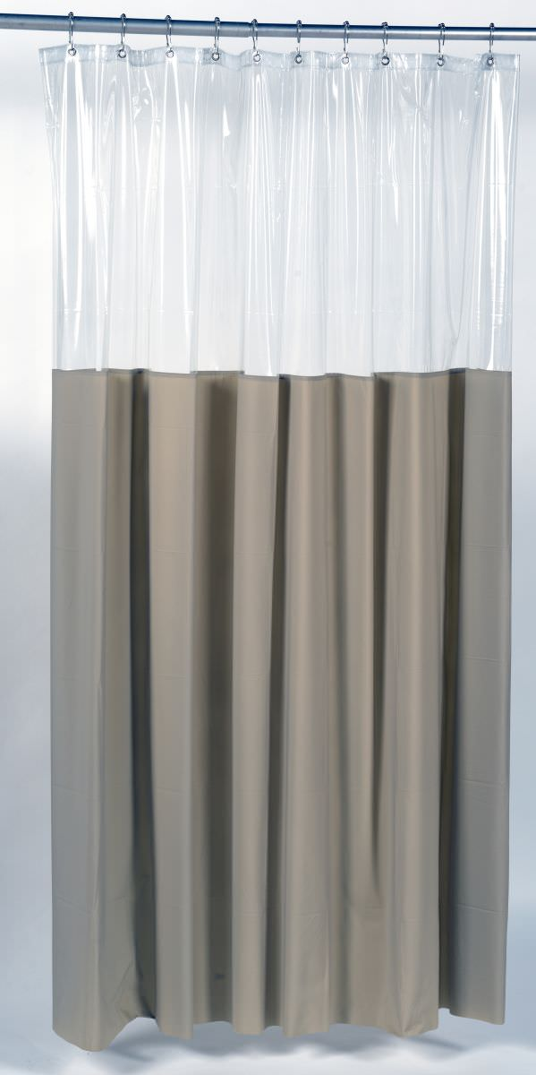 splash collection by ben jonah window shower curtain or liner with a unique clear top that allows light in and still maintains privacy size