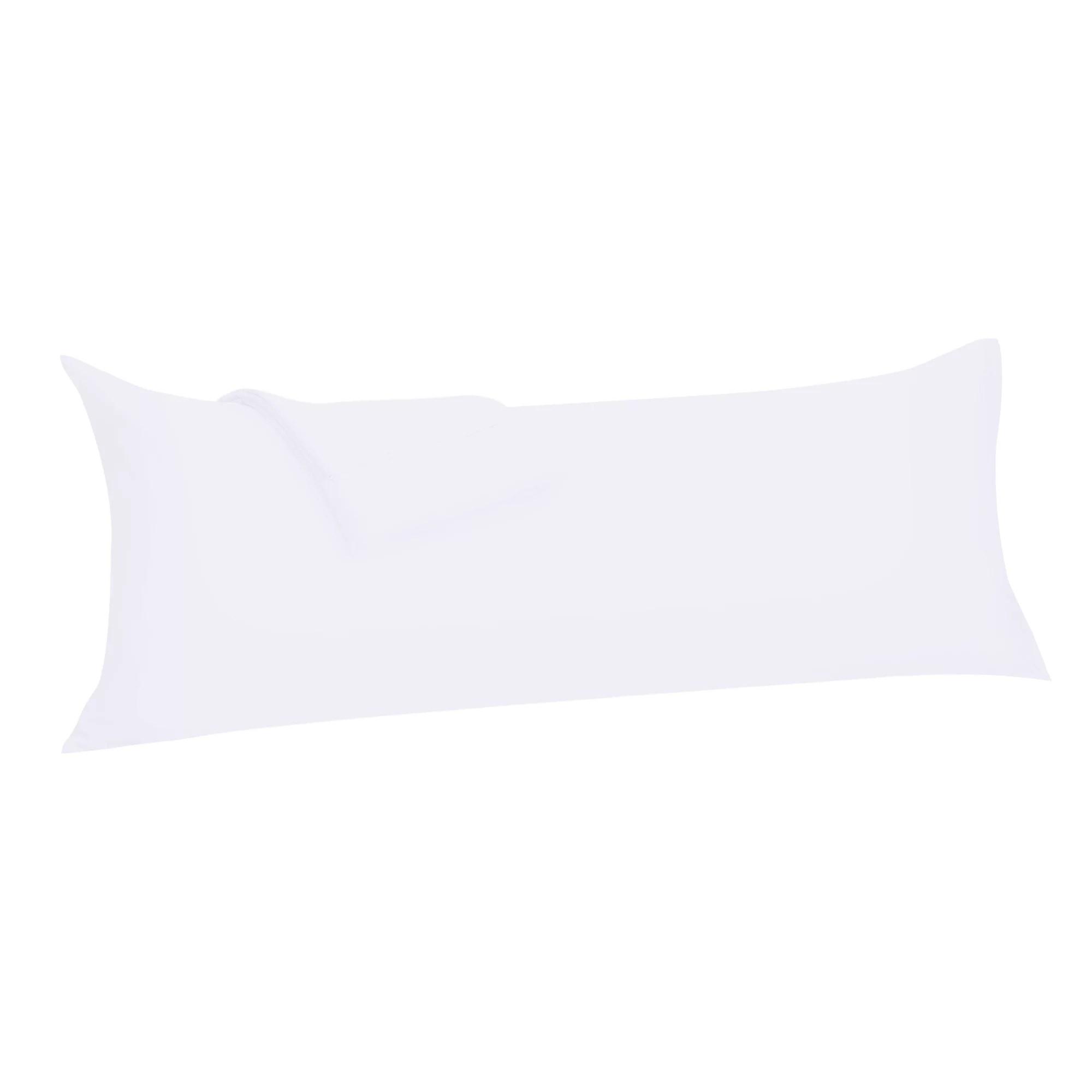 comfortable soft pillowcase pillow case cover with zipper microfiber white 20 x72