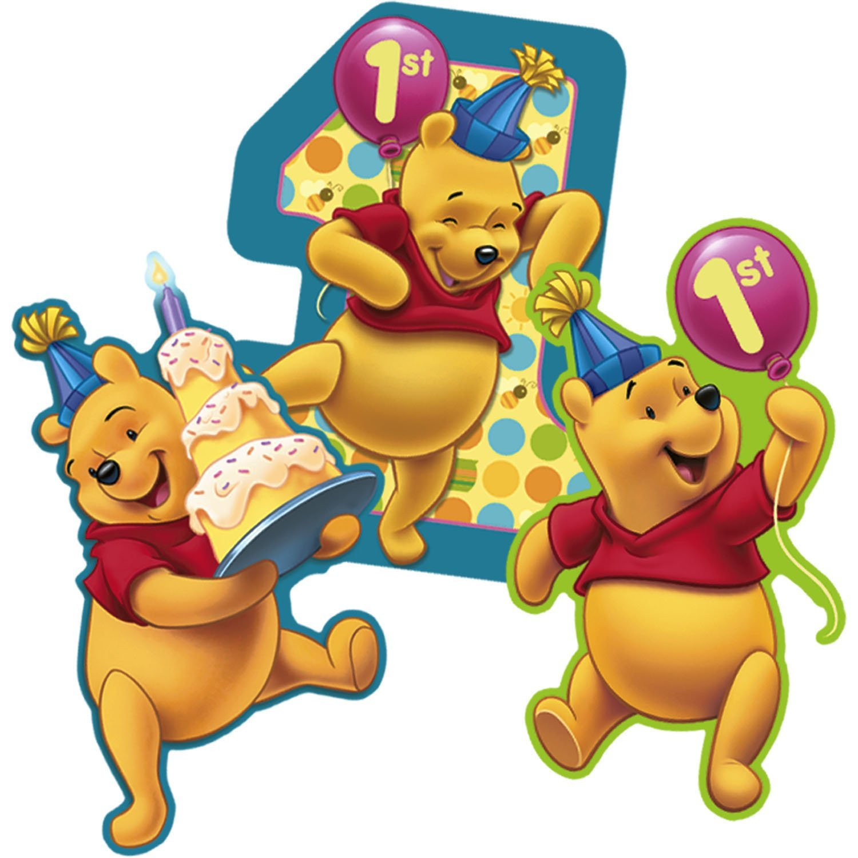 winnie the pooh 1st birthday wall decorations 3ct walmart com