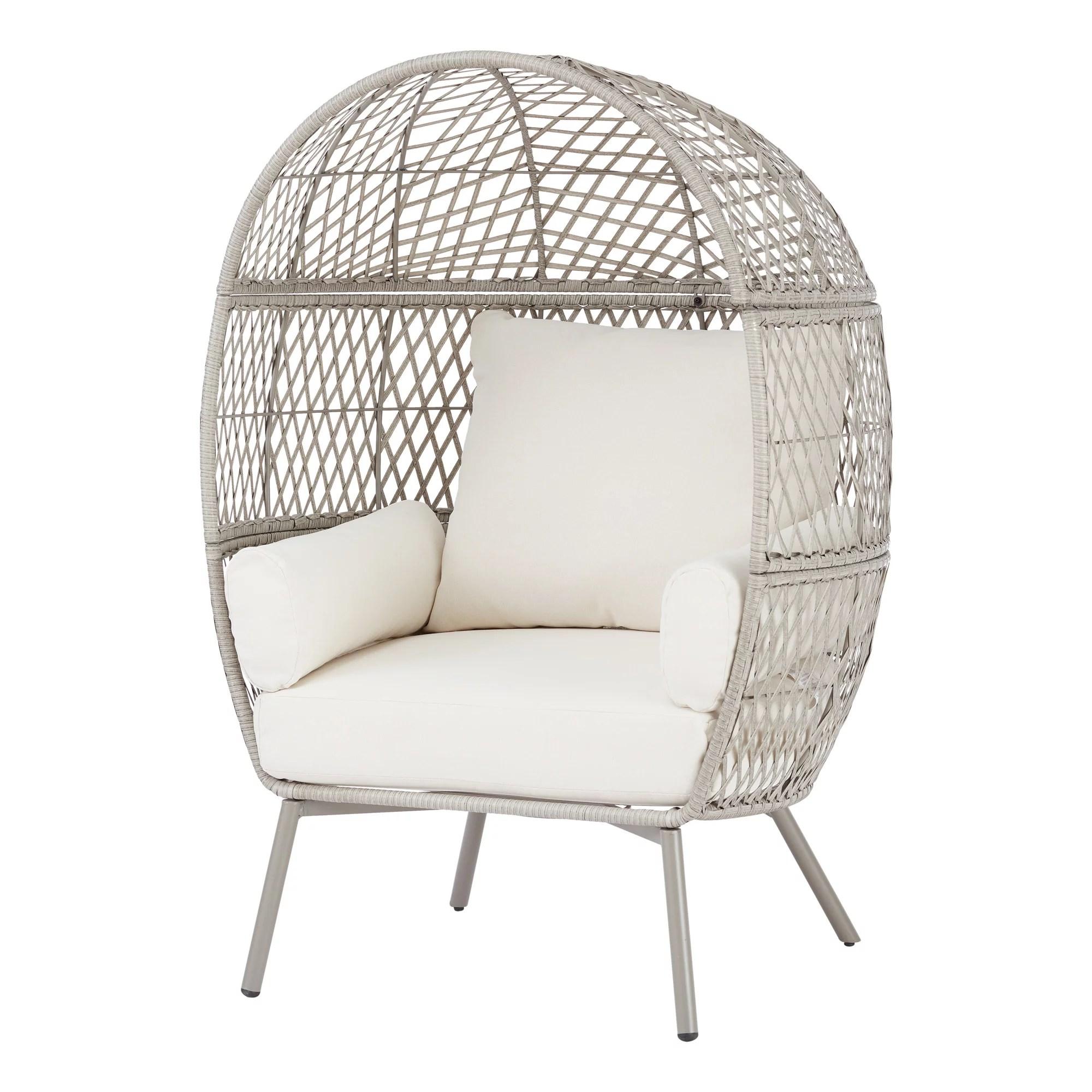better homes gardens ventura weather resistant wicker outdoor lounge chair cream
