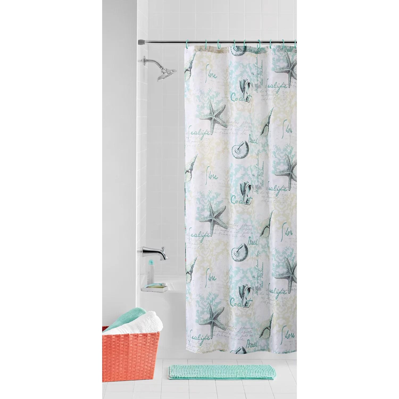 mainstays 14 piece bath set with shower curtain noodle rug 12 hooks