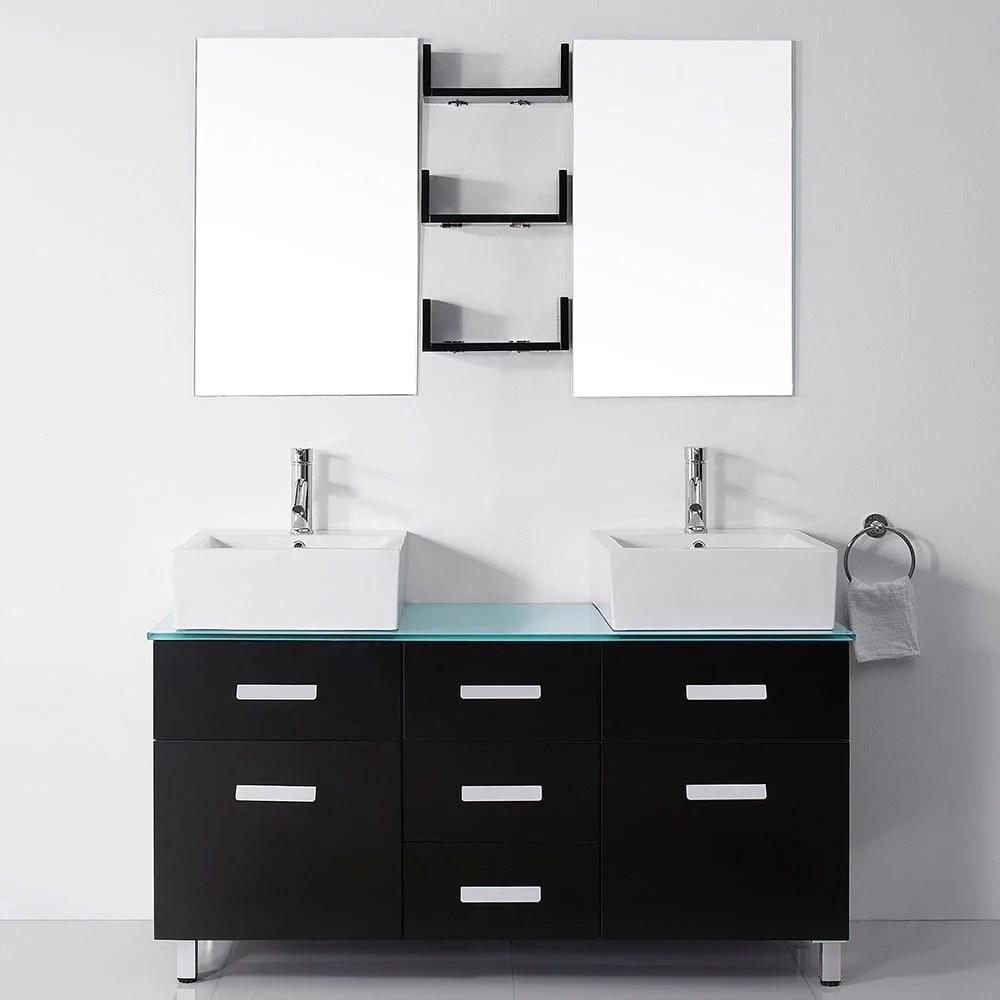 virtu usa maybell 56 inch double sink bathroom vanity set