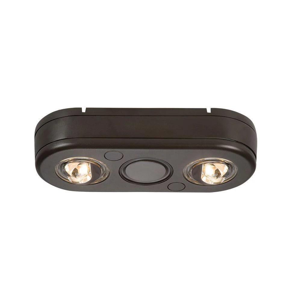 eaton all pro double led security floodlight bronze 180 degree revolve motion activated light 5000k rev21850m walmart com