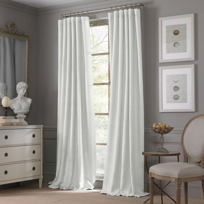 valeron estate cotton linen 84 inch window curtain panel in white walmart com