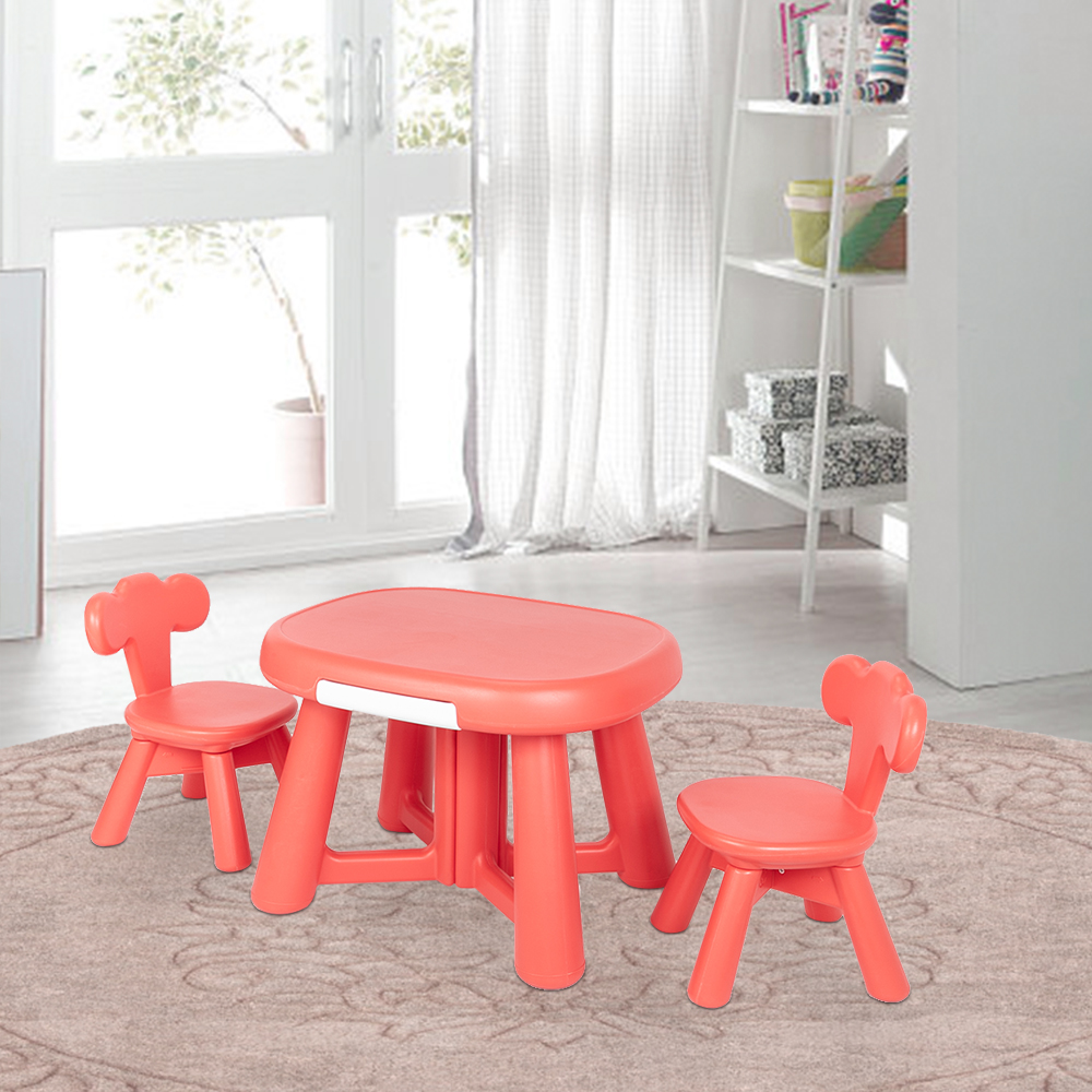 topcobe kids table and chairs sets children s furniture arts activity table and 2 chairs set for playing reading studying in playroom kindergarten
