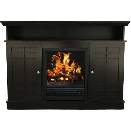 Decor Flame Infrared Electric Fireplace With 32 Mantle