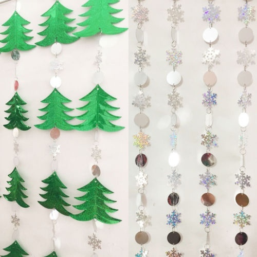 Cheap Christmas Snowflake Ornaments Xmas Tree Paillette Bead Curtain Hanging Decor 1pc Walmart Canada