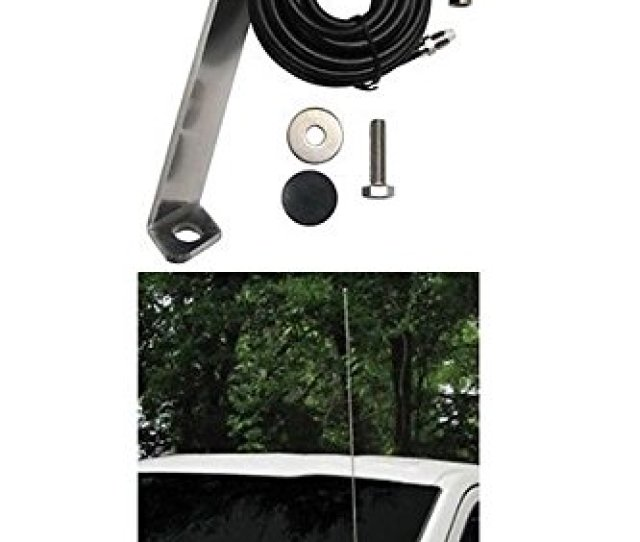 Ford F 150 Front Hood Antenna Mount For Amateur Ham Commercial And Cb Two Way Antennas With Cable Walmart Com
