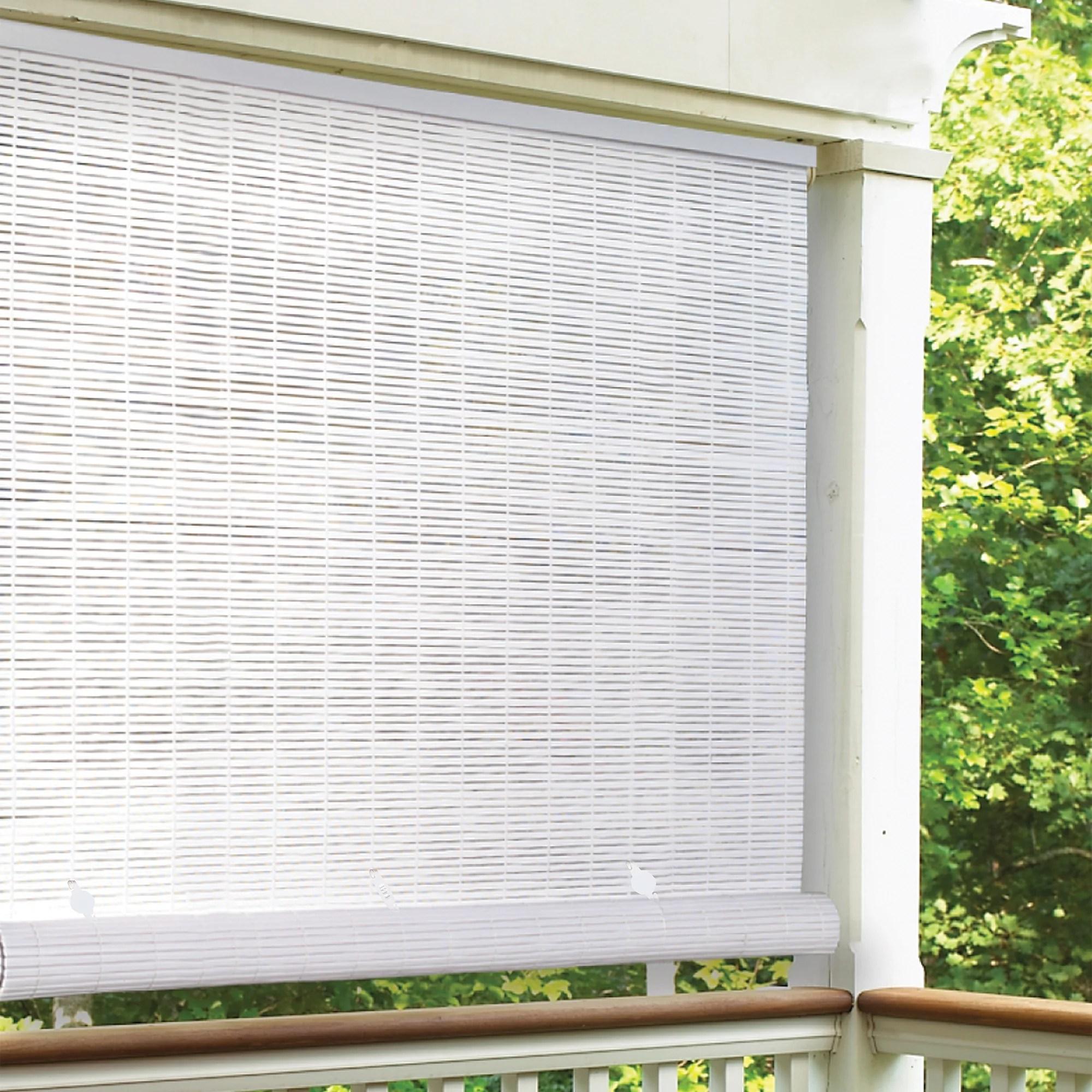 radiance 6 x 6 cordless 1 4 pvc roll up outdoor sun shade white walmart com