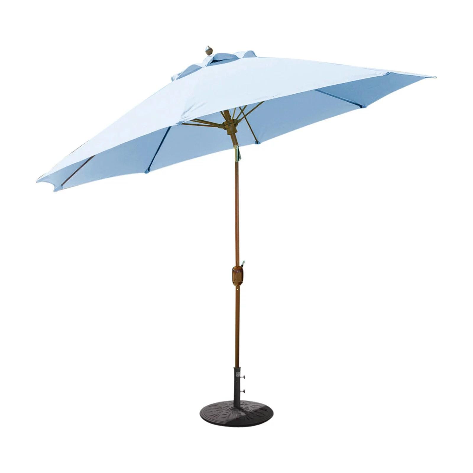 galtech 9 ft aluminum tilt sunbrella patio umbrella