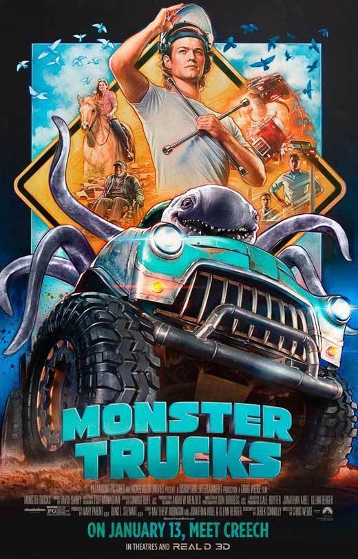 monster trucks movie poster 11 x 17