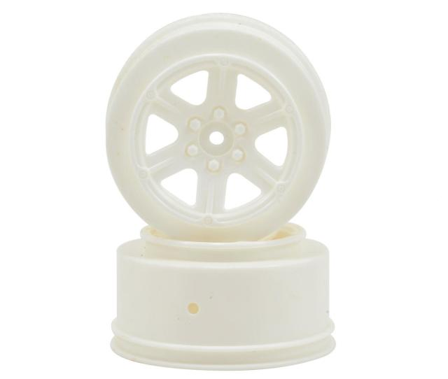 Schumacher 12mm Hex 6 Spoke Short Course Wheels W 3mm Offset White
