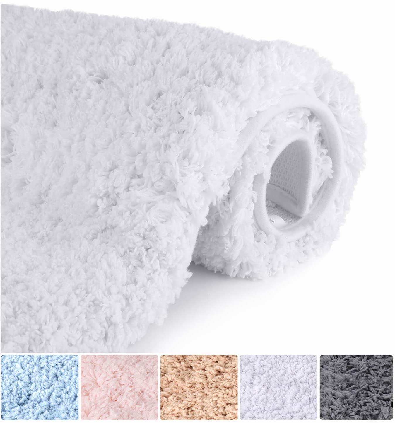 fluffy bathroom rugs image of
