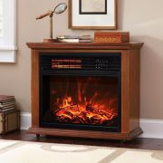 Electric Fireplace Heater Flame 17 5 Stove Warmer Freestanding