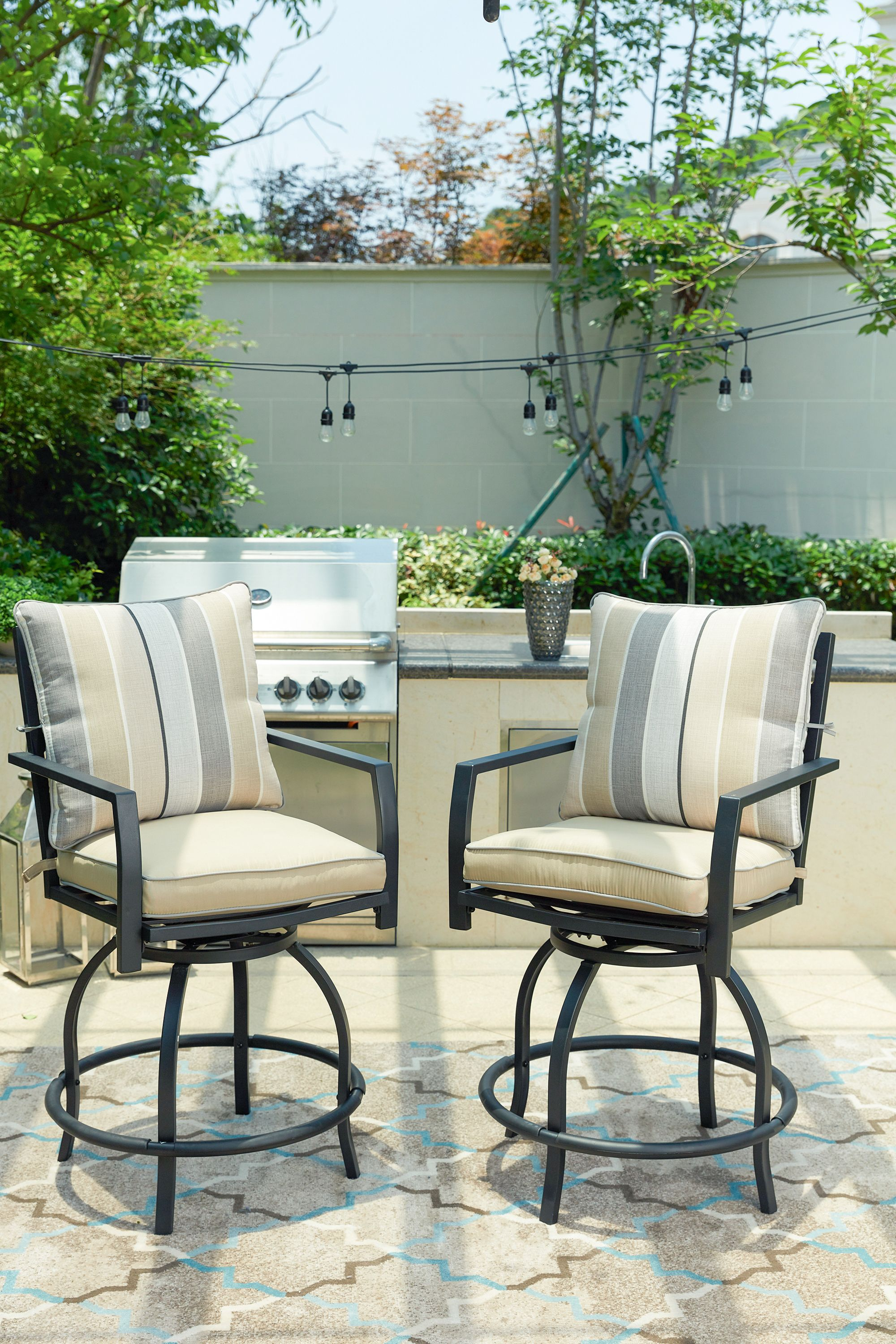 outdoor patio high swivel bistro chair