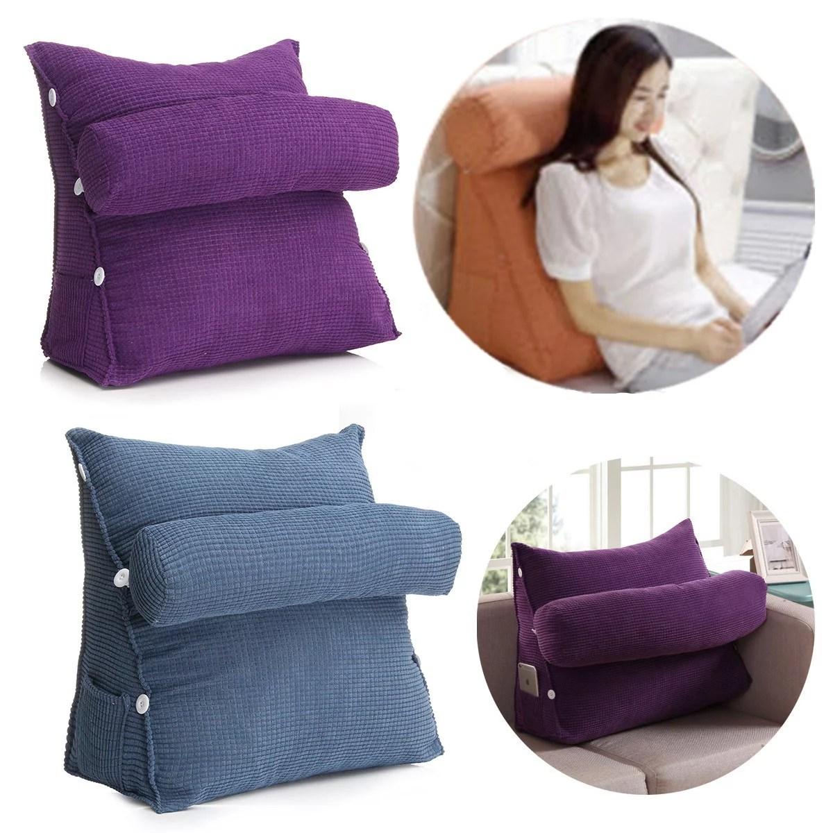 Kadell Adjustable Back Wedge Micro Plush Bedrest Cushion Pillow Sofa Bed Office Chair Rest Waist Neck Support Walmart Com Walmart Com