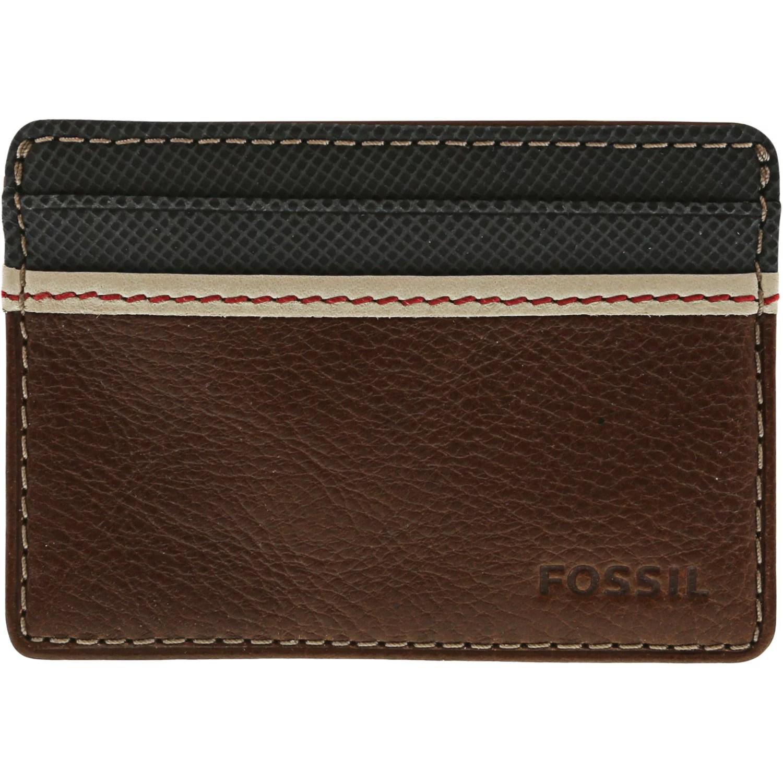 fossil fossil men s elgin card case leather wallet brown walmart com
