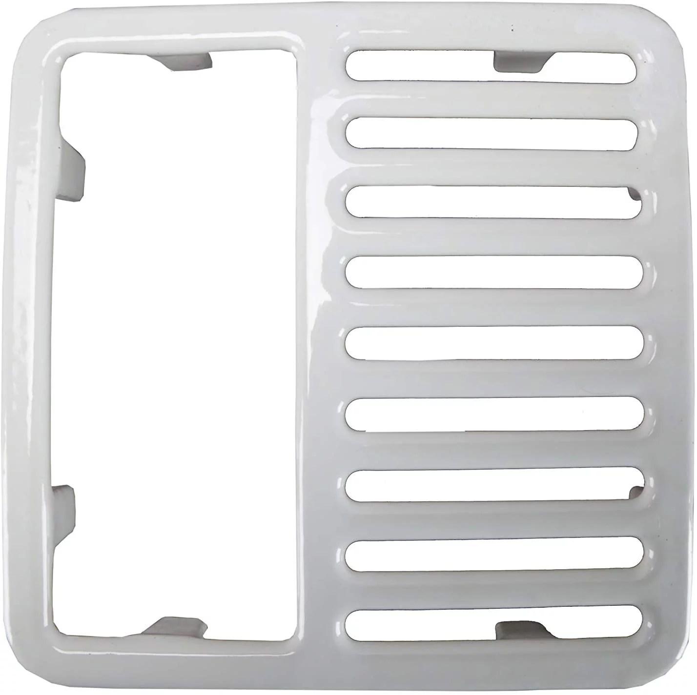 gsw fs t1 2 cast iron floor sink top grate with ceramic surface 1 2 size 9 3 8 w x 9 3 8 l walmart com