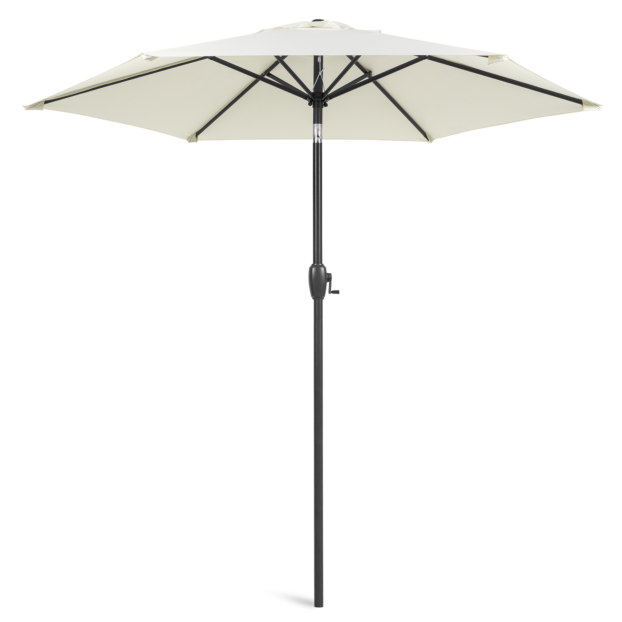 best choice products 7 5ft heavy duty outdoor market patio umbrella w push button tilt easy crank lift cream