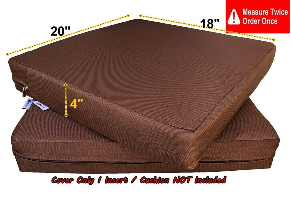 waterproof outdoor 4 pack deep seat chair patio cushions zipper cover 20 x18 x4 duvet replacement case