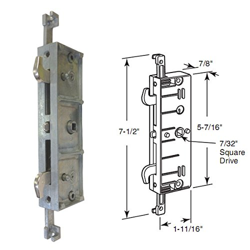 stb sliding glass patio door lock mortise type multi point 4 7 16 screw holes four point mortise lock by gordonglass walmart com