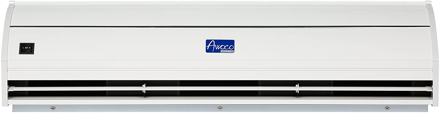awoco fm 3509l y m 36 elegant 2 speeds 900 cfm indoor air curtain with an easy install magnetic door switch