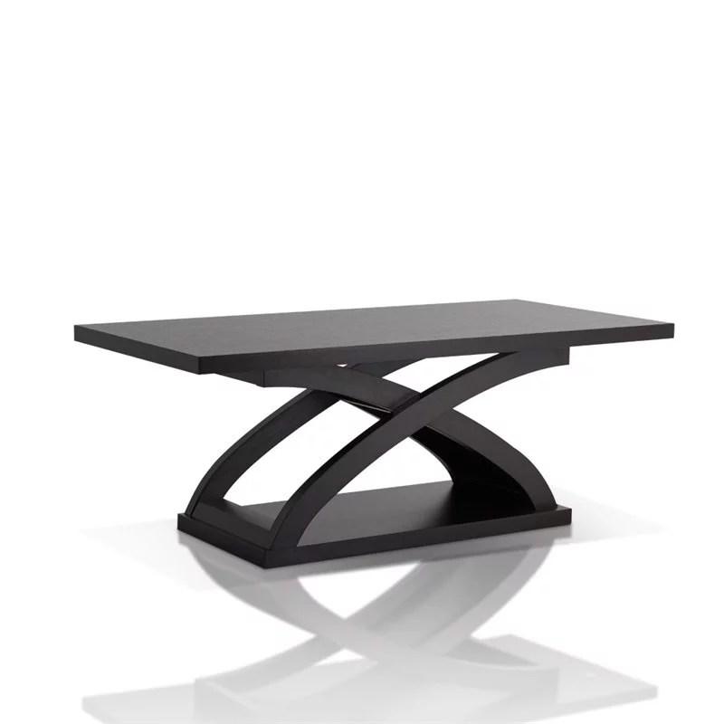 furniture of america porthos contemporary wood coffee table in espresso walmart com