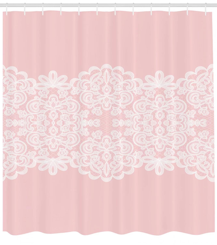 hooks pale pink shower curtain sets