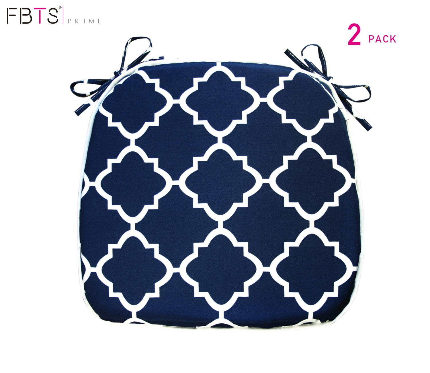 fbts prime outdoor chair cushions set of 2 16x17 inches patio seat cushions navy square chair pads for outdoor patio furniture garden home office