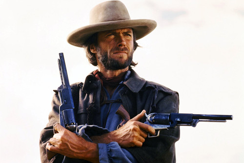 clint eastwood the outlaw josey wales iconic pose with two guns 24x36 poster