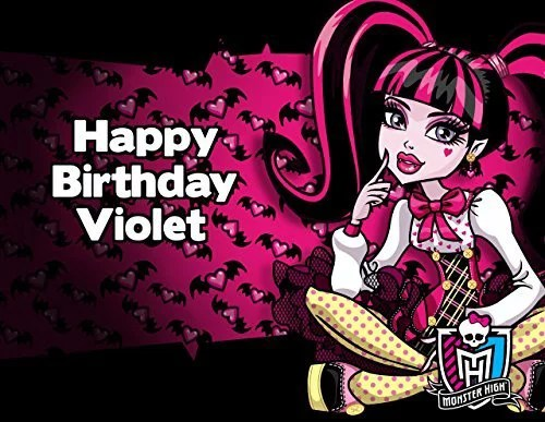 Monster High Draculaura Edible Image Photo Cake Frosting Icing Topper Sheet Personalized Custom Customized Birthday Party 1 4 Sheet 79278 Walmart Com Walmart Com