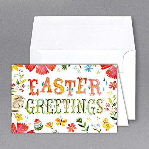 "Jumbo ""Easter Day"" Card & Envelope. Card Size 8.5 X 11 When Open – 5.5 X 8.5 Inches When Folded – Scored for Easy Folding. (2 Per Pack) (B)"