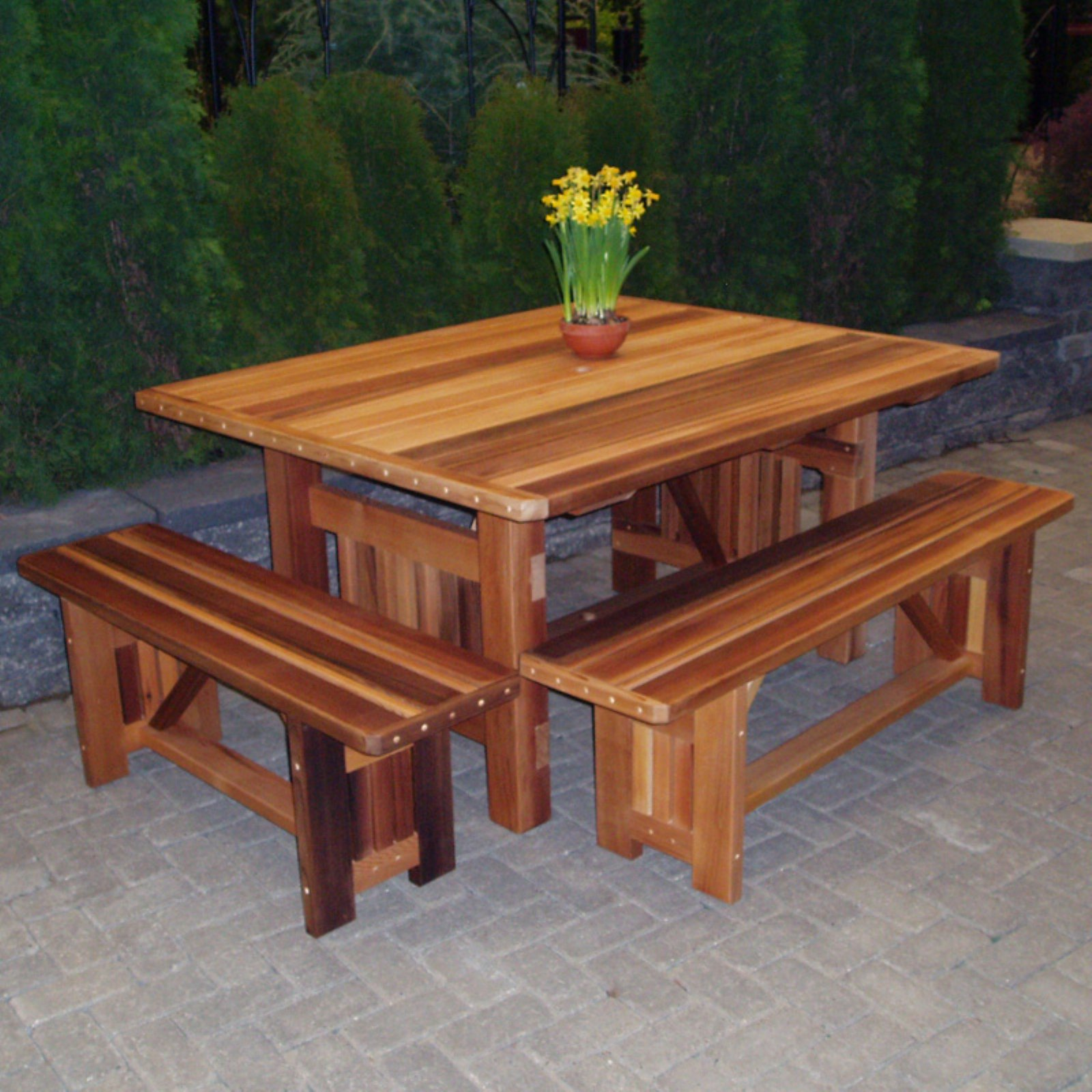 wood country cabbage hill 5 ft rectangle cedar patio table