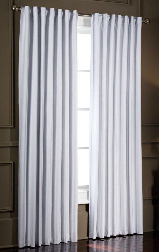 smartblock chroma 95 inch rod pocket 100 blackout window curtain panel in white