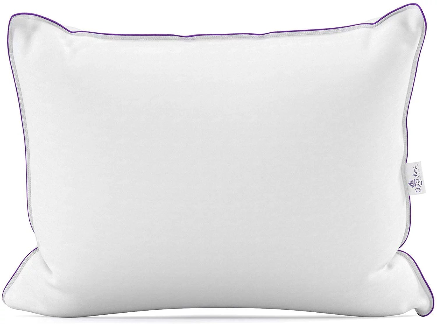 the duchess queen anne pillow company s luxury goose down and feather pillow 25 down 75 feather bed pillow king size 20x36 medium fill
